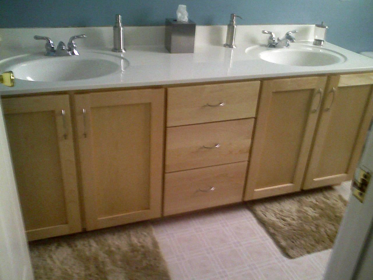 Bathroom cabinet refacing before and after - Custom Cabinets Refacing & Tops - Our Work