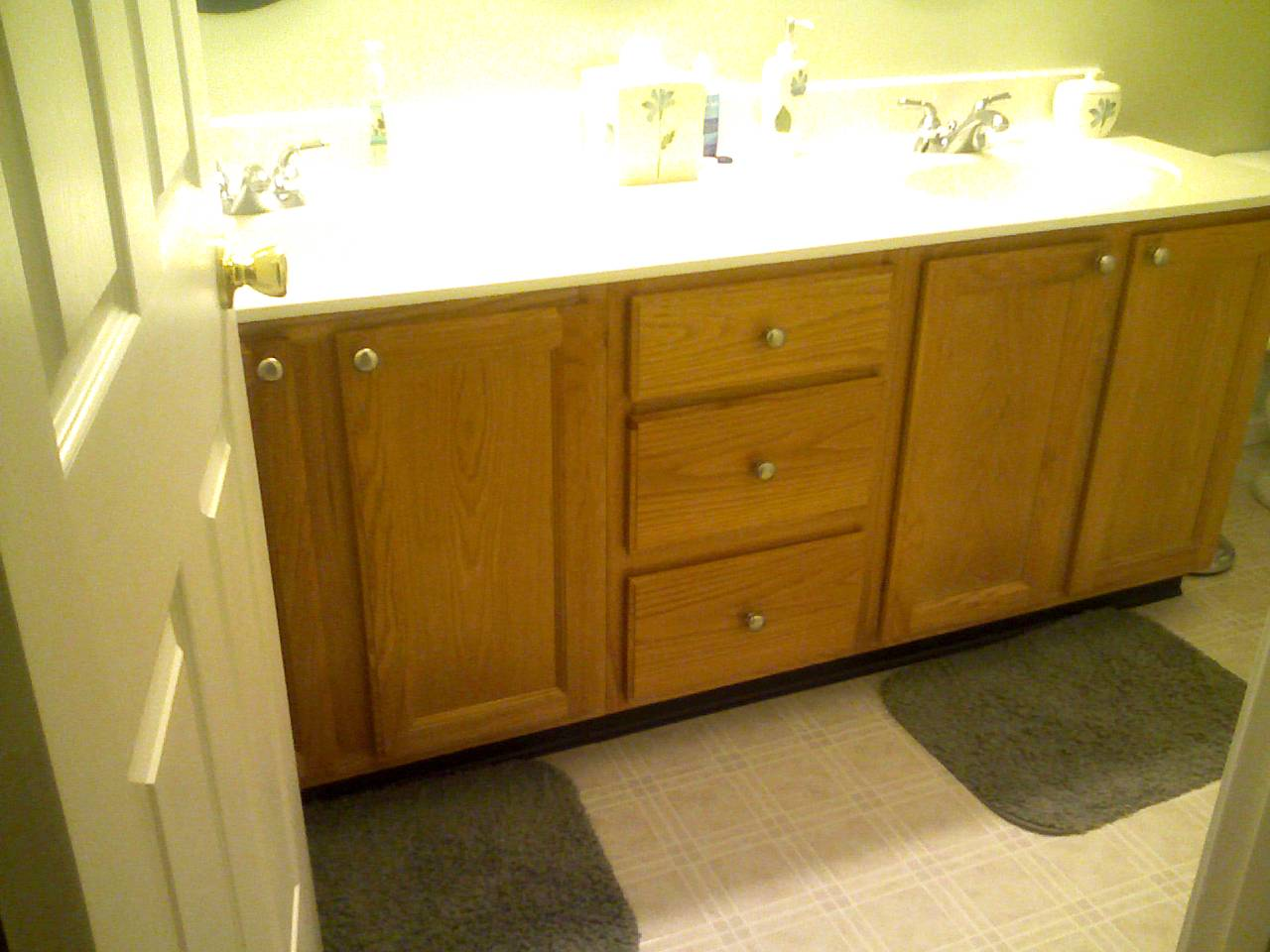new laminated counter tops bathroom cabinet refacing before and after